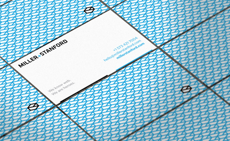 Business Cards blue 10