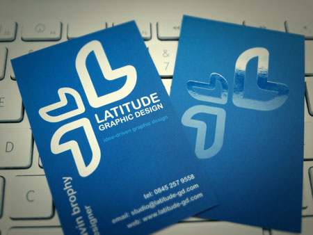 Business Cards blue 17