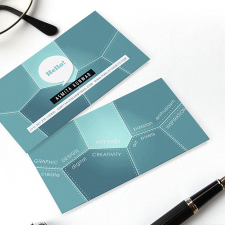 Business Cards blue 23