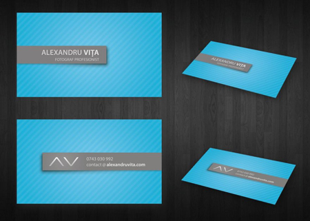 Business Cards blue 26