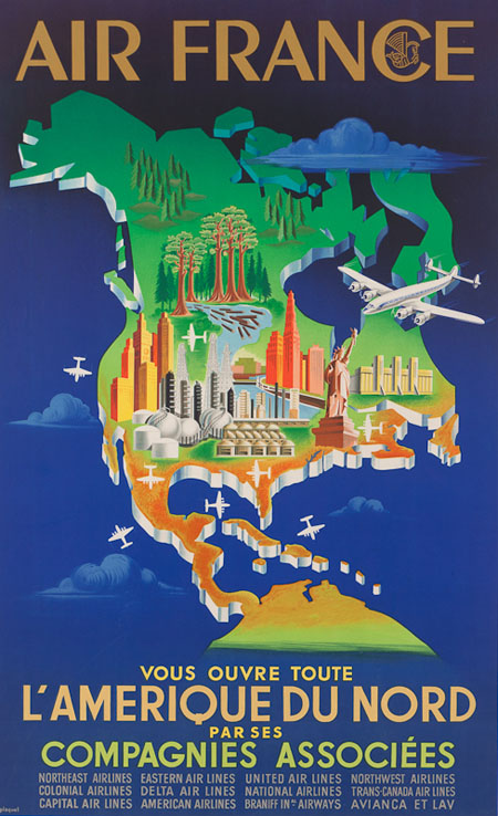 Vintage Airline Posters afr 2
