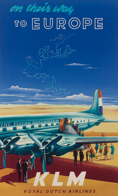 Vintage Airline Posters klm 1