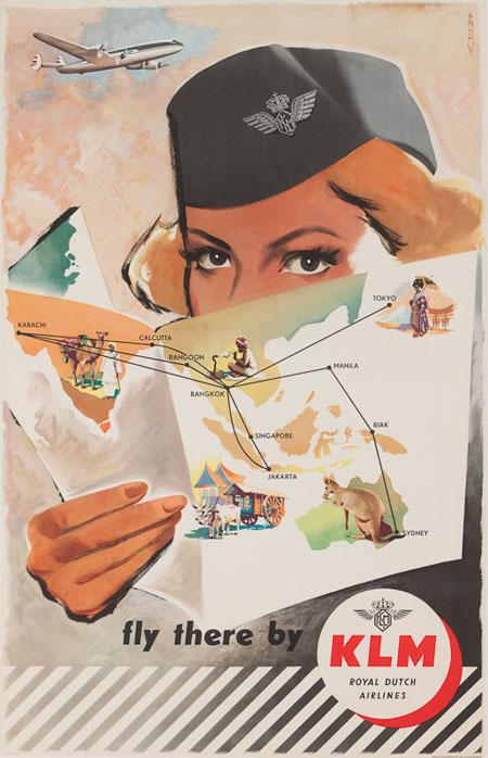 Vintage Airline Posters klm 4