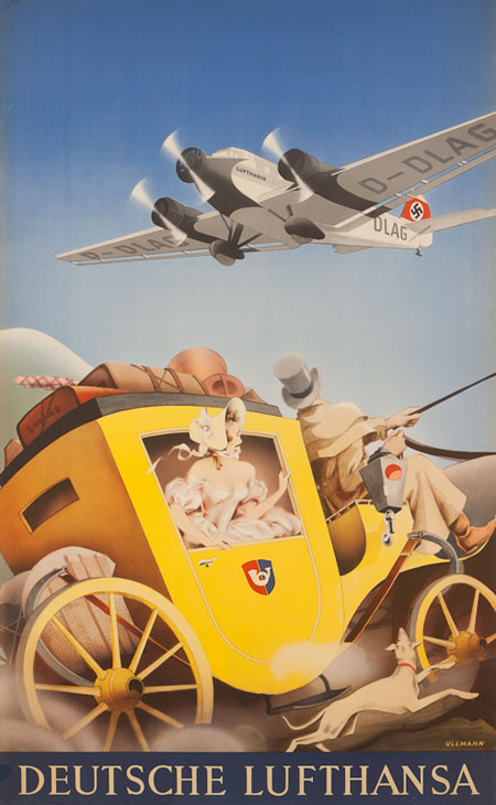 Vintage Airline Posters lufth 1