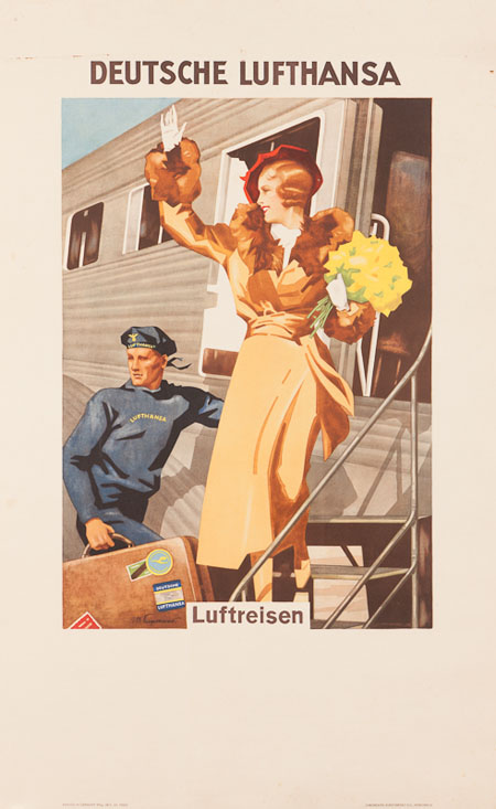 Vintage Airline Posters lufth 2
