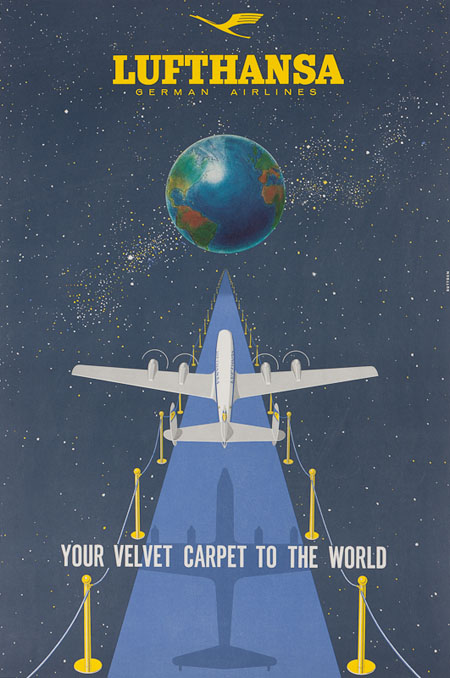 Vintage Airline Posters lufth 4