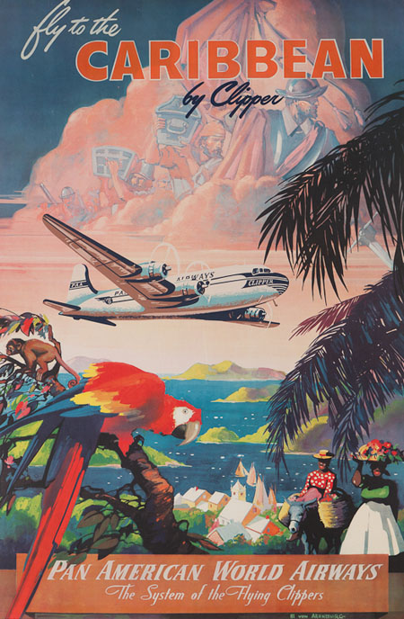 Vintage Airline Posters panam11