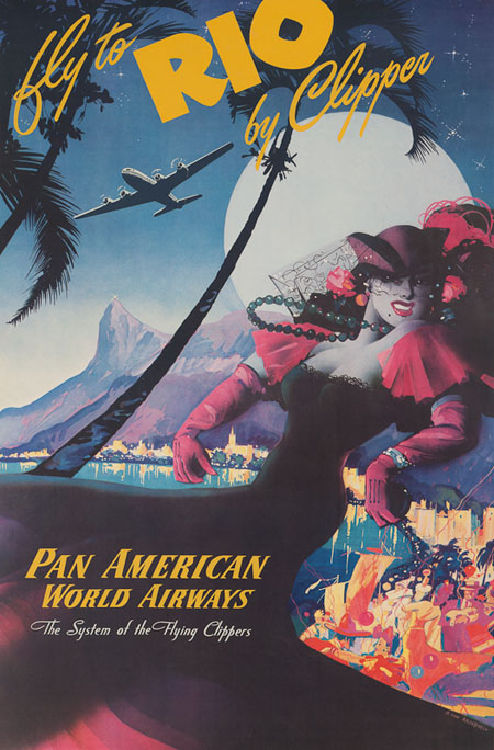 Vintage Airline Posters panam5