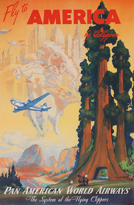 Vintage Airline Posters panam6
