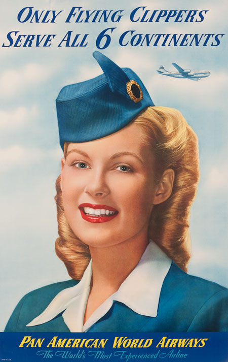 Vintage Airline Posters panam9