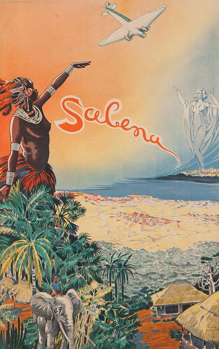 Vintage Airline Posters sabena 2