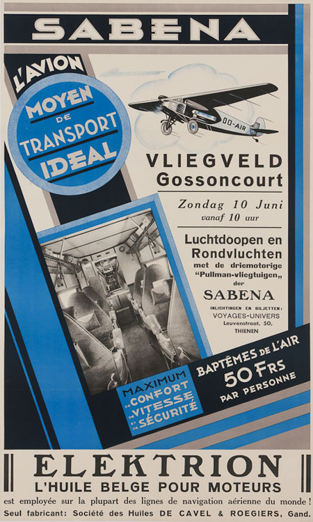 Vintage Airline Posters sabena 3