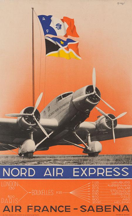 Vintage Airline Posters sabena 4