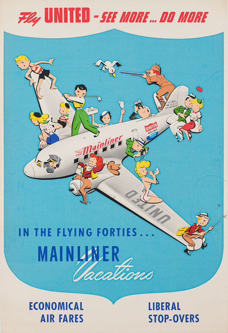Vintage Airline Posters united2