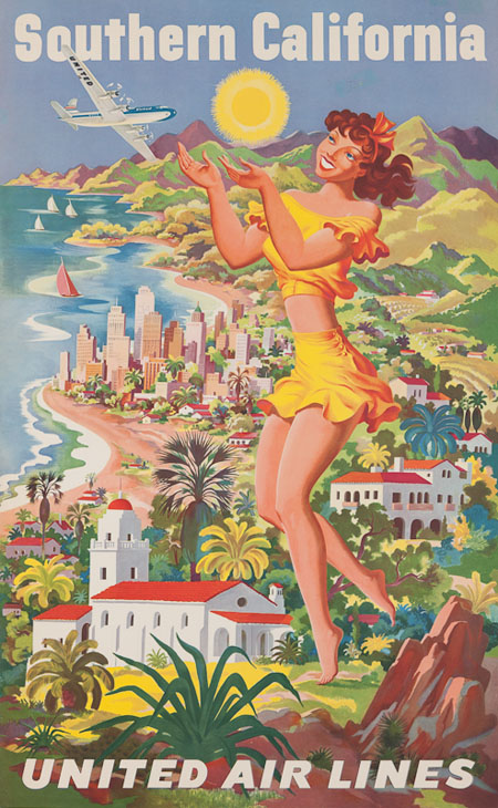 Vintage Airline Posters united3