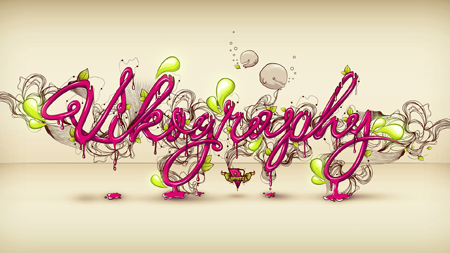 Typography Wallpaper composition