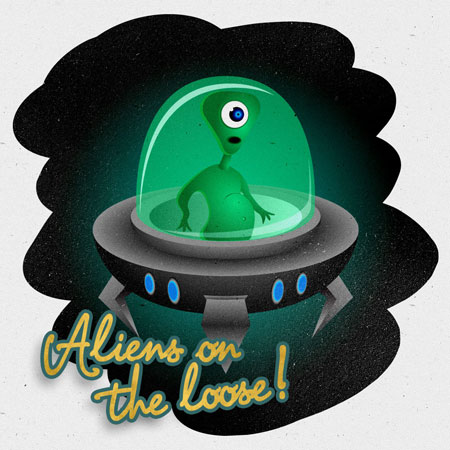 Alien Character final illustration