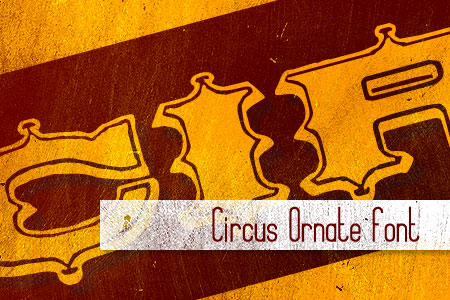 Handpicked Vintage Fonts Circus