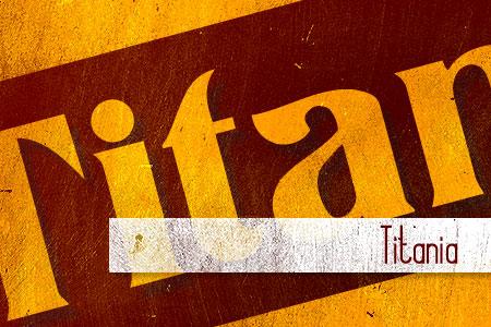 Handpicked Vintage Fonts Titania