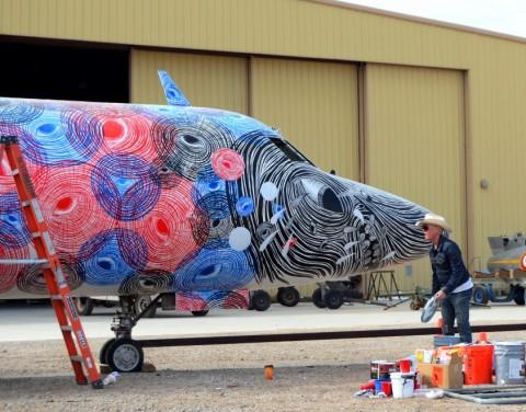 Graffiti WWII Airplanes SPY TIGER