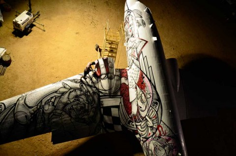 Graffiti WWII Airplanes HOW AND NOSM