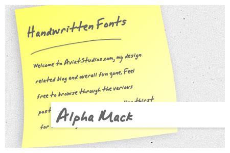 Free Handwritten Font Collection - Alpha Mack AOE