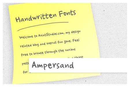 Free Handwritten Font Collection - Ampersand