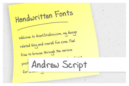 Free Handwritten Font Collection - Andrew Script