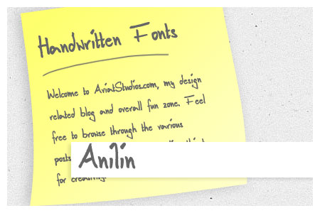 Free Handwritten Font Collection - Anilin