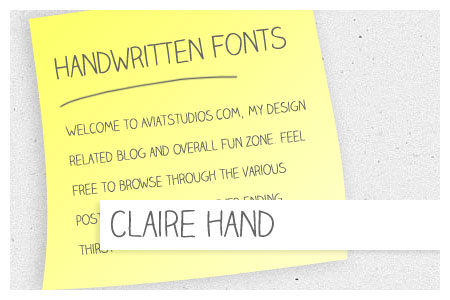 Free Handwritten Font Collection - Claire Hand