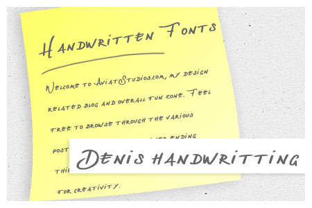 Free Handwritten Font Collection - Denis handwritting