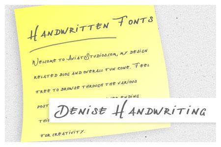 Free Handwritten Font Collection - Denise Handwriting
