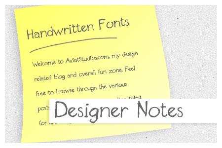Free Handwritten Font Collection - Designer Notes