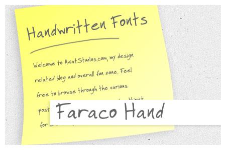 Free Handwritten Font Collection - Faraco Hand