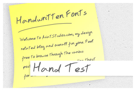 Free Handwritten Font Collection - Hand Test
