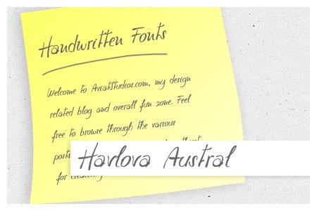 Free Handwritten Font Collection - Havlova Austral