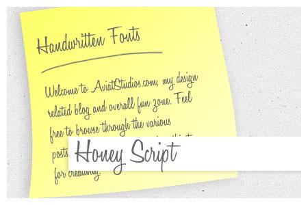 Free Handwritten Font Collection - Honey Script