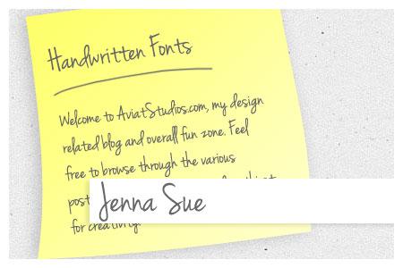 Free Handwritten Font Collection - Jenna Sue