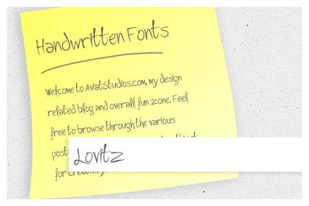 Free Handwritten Font Collection - Lovitz