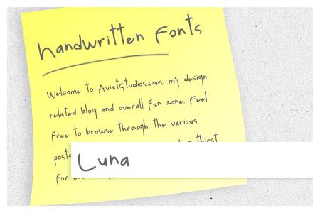 Free Handwritten Font Collection - Luna
