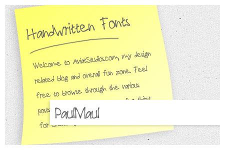 Free Handwritten Font Collection - PaulMaul