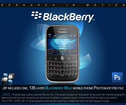 Free Templates For Busy Designer - RIM Blackberry PSD