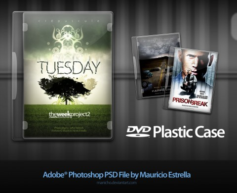 Free Templates For Busy Designer - DVD Plastic Case - PSD file