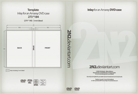 Free Templates For Busy Designer - DVD Case Inlay - PSD Template