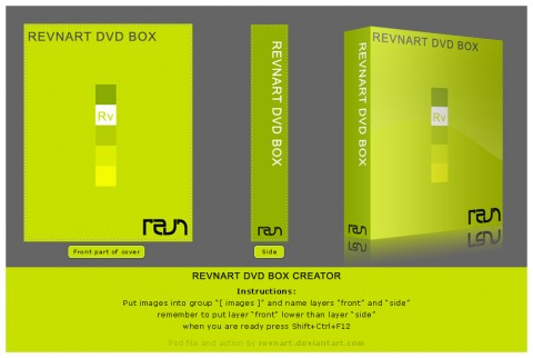 Free Templates For Busy Designer - DVD box creator