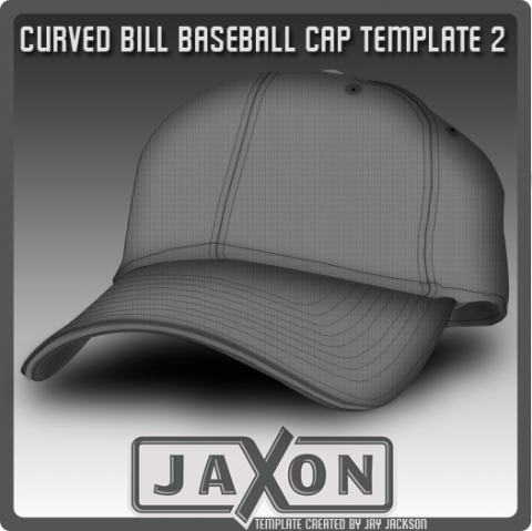 Free Templates For Busy Designer - Curved Bill Baseball Template