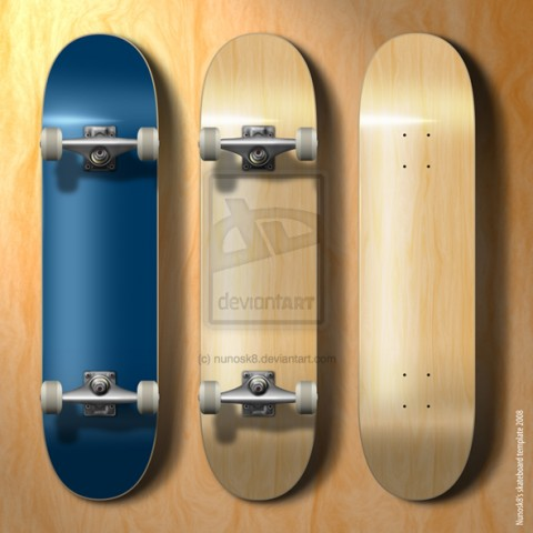 Free Templates For Busy Designer - Skateboard template
