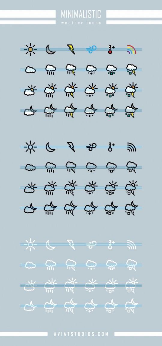 Minimalistic Weather Icons preview