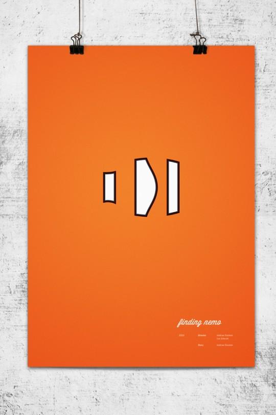Pixar Posters by Lee Wonchan