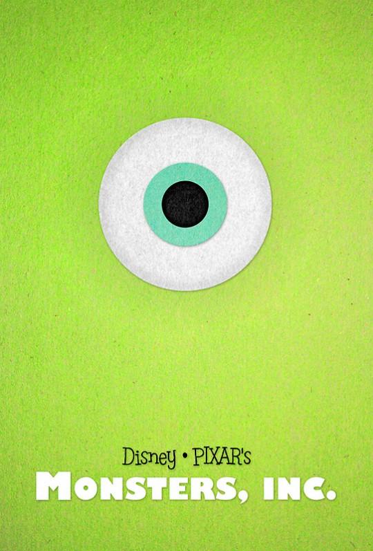 Pixar Posters by Sam Novak